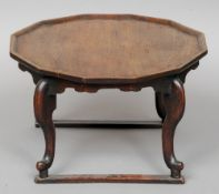 A 19th century Korean Choson Period Soban (dining table) The shaped top supported on cabriole legs