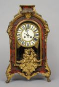 A 19th century Continental ormolu mounted boulle bracket clock