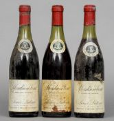 Three bottles of Louis Latour Moulin a Vent 1970  (3)