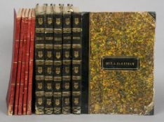Five volumes of 19th century music With contemporary half calf covers and marbled boards bearing the