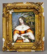 A 19th century portrait miniature on ivory