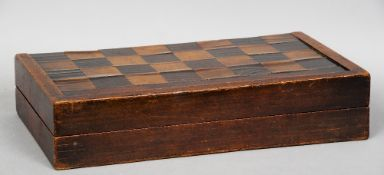 A late 18th century inlaid mahogany fold