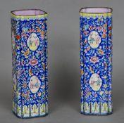 A pair of 19th century Canton enamel sle