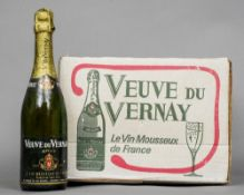 A case of Veuve du Vernay Brut Cuvee Extra