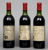 Three bottles of Chateau Roudier Montagne-St-Emilion 1979  (3)  CONDITION REPORTS: Labels dirty,