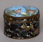 A late 19th/early 20th century Chinese cloisonne box and cover Of cylindrical form, the domed