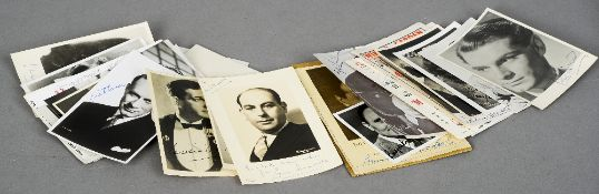 A quantity of signed photographs, playbills and items of correspondence Signatories include