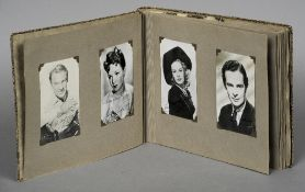 An album of signed photographs of stars of stage and screen in the 1930s ,