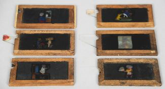Six vintage animated projector slides  (6)  CONDITION REPORTS: Generally in good condition, expected