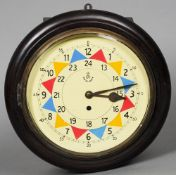 An RAF wall clock With typical painted dial and fusee movement. 33 cm diameter. CONDITION REPORTS: