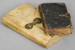 A 17th century vellum covered book  Riders (1689) British Merlin; Bedecked with many delightful