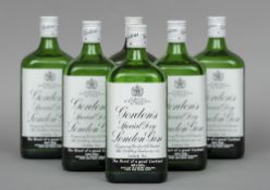 Gordon's Special Dry London Gin, 75 cl, 40% volume Six bottles.  (6) CONDITION REPORTS: Generally