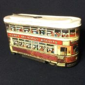 A Carr & Co Limited, Carlise tram form biscuit tin Of typical form, inscribed Carr's Delicious
