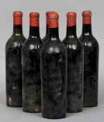 Mouton Rothschild, unknown vintage Six bottles lacking labels.  (6) CONDITION REPORTS: Levels