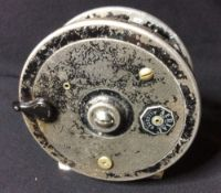 Allcock's, An Aerial 3 3/4 inch fly reel CONDITION REPORTS: Generally in good condition, expected