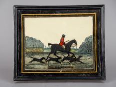 A late 19th/early 20th century reverse painted glass picture entitled Tom Firr With His