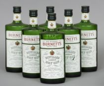 Sir Robert Burnett's White Satin London Dry Gin, 26 2/3 fl ozs Six bottles.