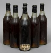 Berry Brothers & Co., Very Old Liqueur Brandy Six bottles, wax seals.  (6) CONDITION REPORTS:
