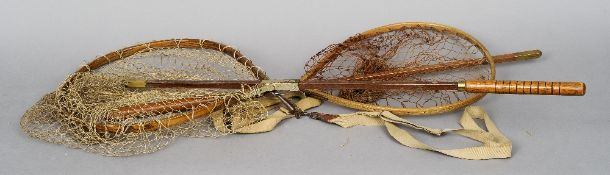 C. Farlow Co. Ltd., two vintage landing nets  CONDITION REPORTS: Generally in good condition,
