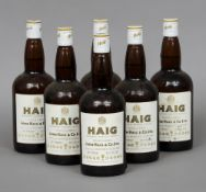 Haig Blended Scotch Whiskey, Gold Label, 26 2/3 fl ozs., 70% proof Six bottles.  (6) CONDITION