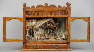 Rat's Landing, a 19th century diorama of The Wind in the Willow character's riverside home