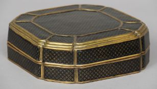 A good quality cloisonne box and cover Decorated with imitation basket work panels.  29.5 cm wide.