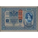 Oesterreichisch-Ungarische Bank, large group of notes including 50 kronen, 2 January 1914, 100