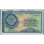 (†) Allied Military Currency, Austria, specimen 1000 schilling, 1944, serial number A/01 000001-A/01