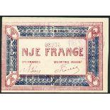 Shqiperie Vetqeveritare - Korce, Albania, 0.50 franc and 1 franc, 1 December 1918, serial numbers