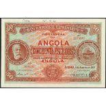 (†) Banco Nacional Ultramarino, Angola, printer's archival specimen 50 Escudos, 1 January 1921,