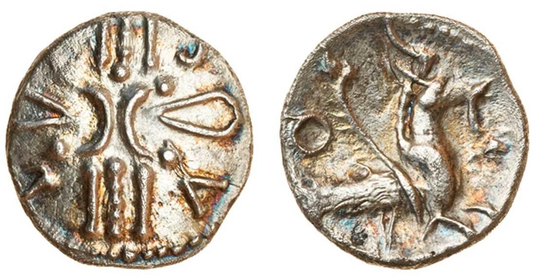 Celtic, Trinovantes and Catuvellauni, Tasciovanus, (c.25 BC-AD 10), silver Unit, 1.26g, '