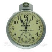 A SECOND WORLD WAR HAMILTON U.S. NAVY MODEL 22 NAVIGATIONAL CHRONOMETER DECK / POCKET WATCH CIRCA