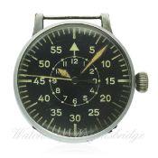 A GERMAN MILITARY LACO LUFTWAFFE B.UHR NAVIGATORS WATCH CIRCA 1941, REF. FL23883 D: Black dial