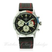 A RARE GENTLEMAN'S STAINLESS STEEL BREITLING CO PILOT YACHTING CHRONOGRAPH WRIST WATCH CIRCA