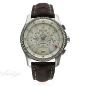 A GENTLEMAN'S STAINLESS STEEL BREITLING FOR BENTLEY MOTORS MARK VI SPECIAL EDITION CHRONOGRAPH WRIST