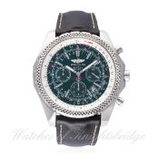 A GENTLEMAN'S STAINLESS STEEL BREITLING BENTLEY SPECIAL EDITION CHRONOGRAPH WRIST WATCH CIRCA