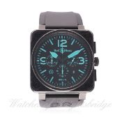 A GENTLEMAN'S PVD COATED BELL & ROSS AUTOMATIC CHRONOGRAPH WRIST WATCH CIRCA 2006, REF. BR 01-94-