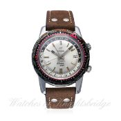 A RARE GENTLEMAN'S STAINLESS STEEL ENICAR SHERPA GUIDE GMT AUTOMATIC WRIST WATCH CIRCA 1970s, REF.