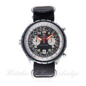 A GENTLEMAN'S STAINLESS STEEL BREITLING 24 HOUR COSMONAUTE CHRONO-MATIC CHRONOGRAPH WRIST WATCH