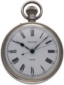 A RARE SOLID SILVER CASED BRITISH MILITARY ULYSSE NARDIN H.S.2 NAVY CHRONOMETER DECK WATCH CIRCA