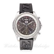 A GENTLEMAN'S STAINLESS STEEL BREITLING BENTLEY CHRONOGRAPH WRIST WATCH CIRCA 2006, REF. A44362 WITH