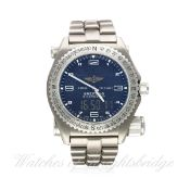 A GENTLEMAN'S TITANIUM BREITLING EMERGENCY BRACELET WATCH DATED 2003, WITH COMPLETE BOX SET & PAPERS