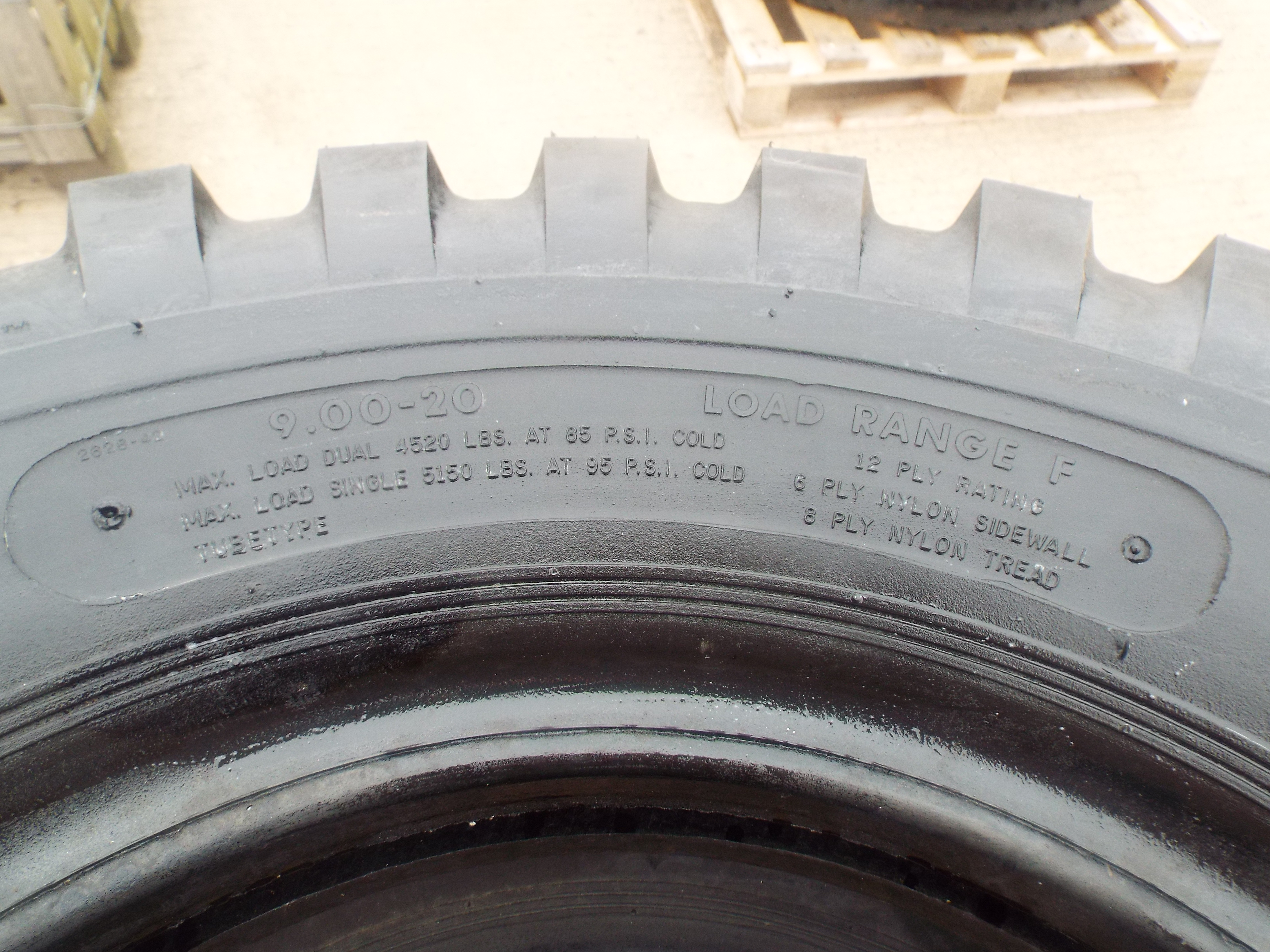 Lot 13615 - 4 x S.T.A. 9.00-20 Crossply Tyres