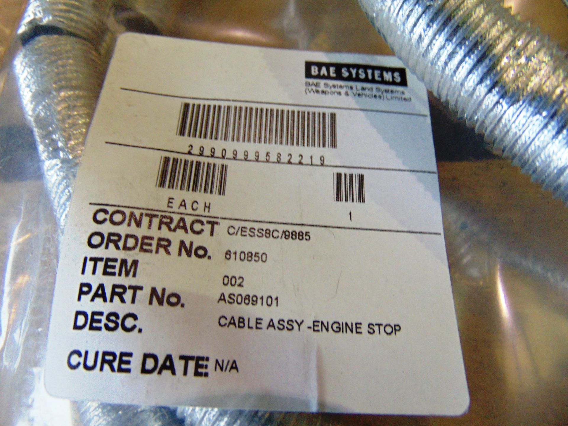 Lot 26827 - 6 x BAE Engine Stop Cable Assys