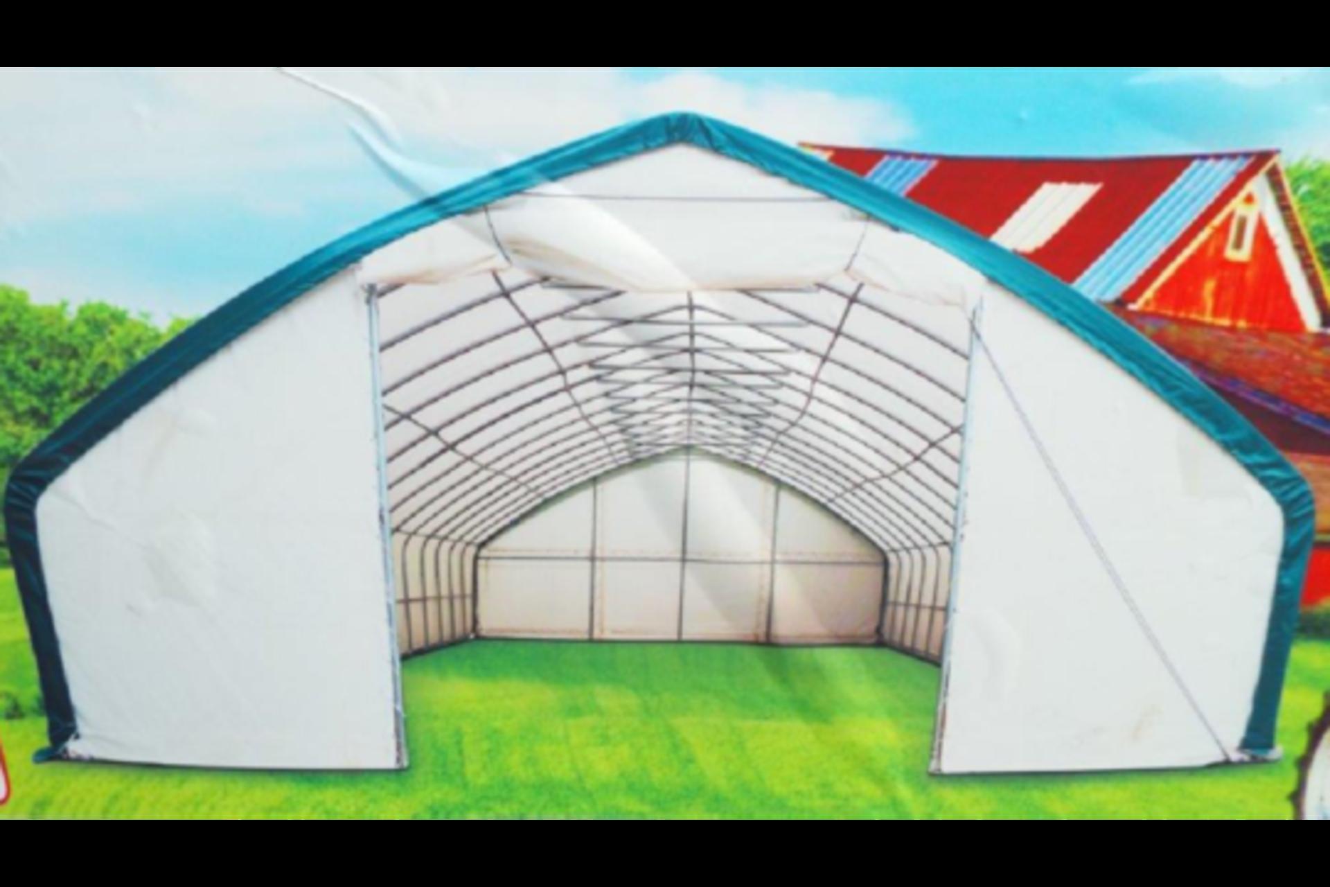 Lot 26790 - Heavy Duty Storage Shelter 30'W x 65'L x 15' H