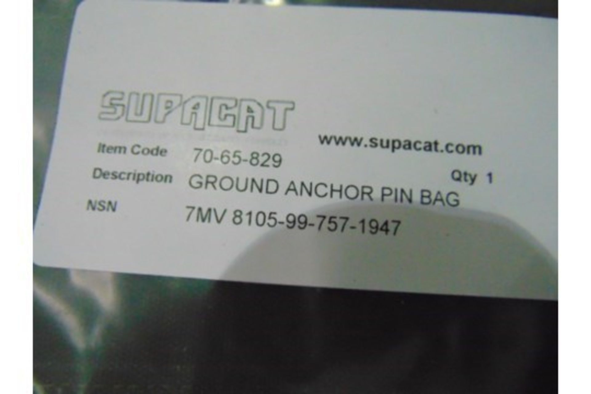 Lot 27219 - 4 x Unissued CES Equip Ground Anchor Pin Bags