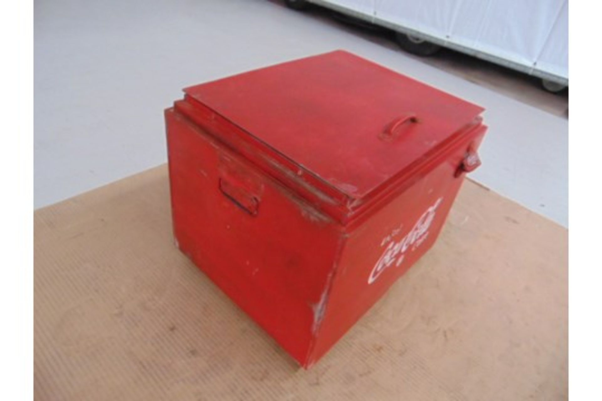 Lot 25877 - Vintage Coca Cola Cooler / Ice Box repro with period bottle opener