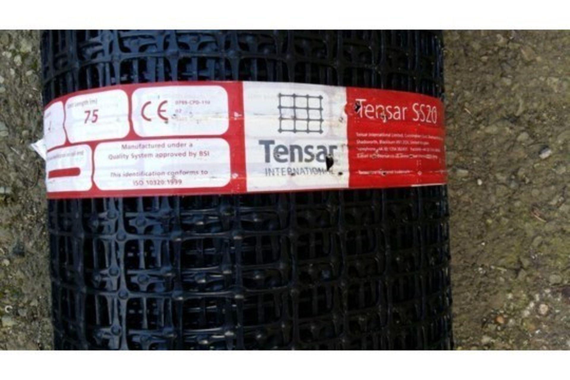 Lot 26600 - 1 x UNISSUED Tensar SS20 Geogrid Ground Foundation Reinforcement Roll 4m x 75m