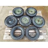 Lote 22358 - 7 x Vredestein 4.00-8 Trailer Tyres with 5 x Rims