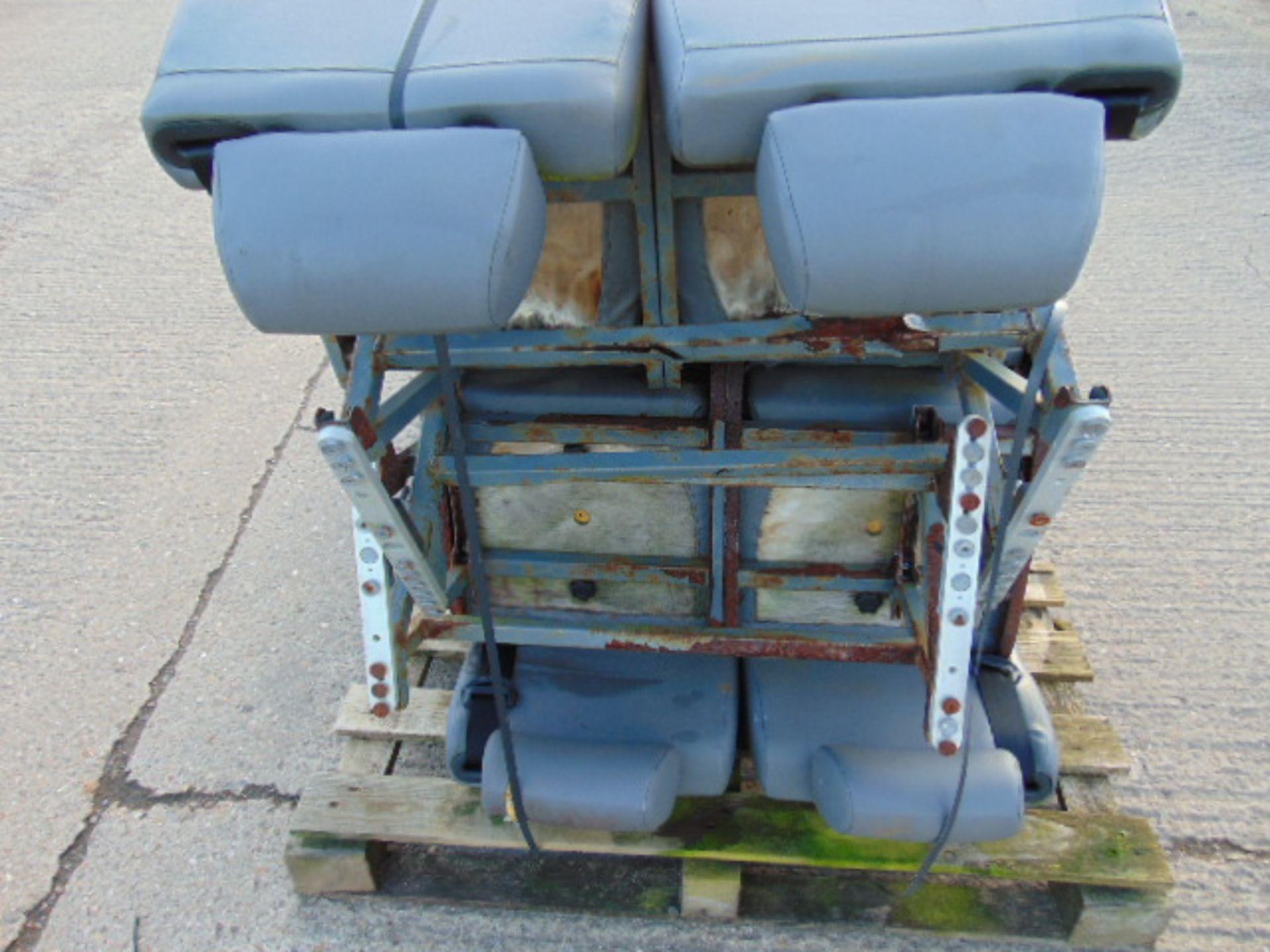 Lot 27243 - 8 x Double Coach Seats